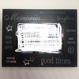 Classy Black photo frame with silver lettering